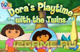 Игра Даша следопыт с близнецами