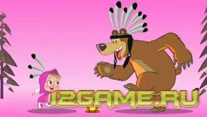 Игра Маша и Медведь магические пазлы