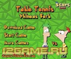Игра настольный теннис Финес Ферб