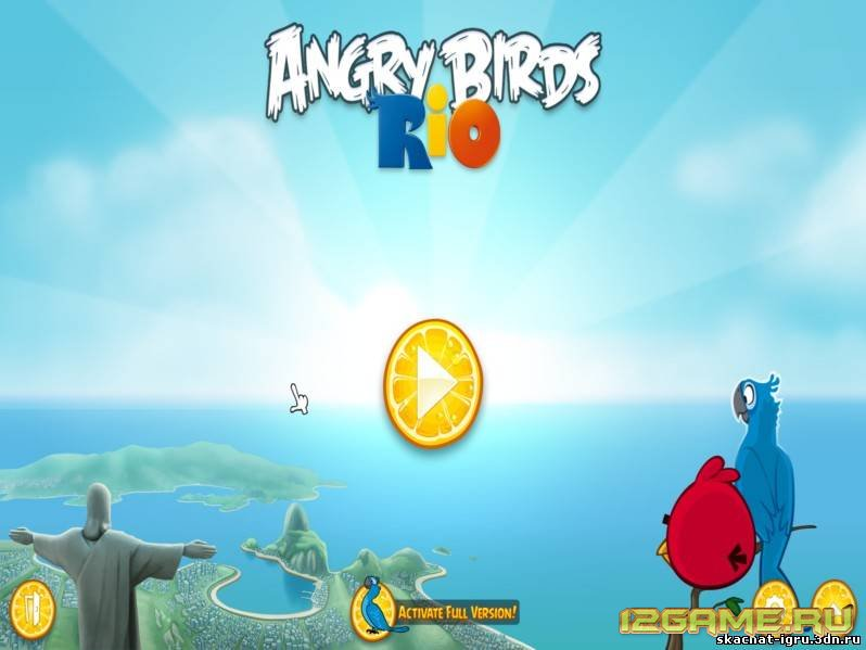 Игра злые птички (Энгри Бердз) Рио