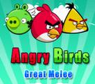 Игра злые птицы (Энгри Бердз) : большой рукопашный бой