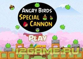 Игра злые птицы (Энгри Бердз) : специальная пушка