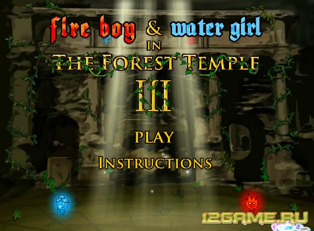 Игра Огонь и Вода 3 - в лесном храме