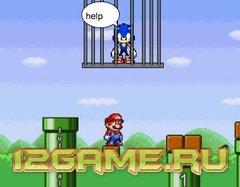 Игра Соник супер Марио спасает Соника