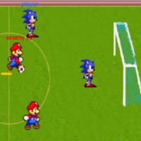 Игра Соник Марио против Соника Футбол