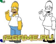Игры Симпсоны раскраски