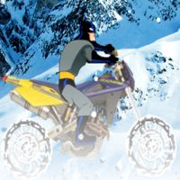 Игра Бэтмен на зимнем мотоцикле