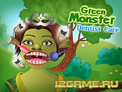 Игра Шрек зеленый монстр у стоматолога