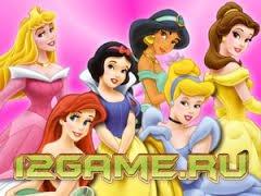 Игра Дисней пазл принцессы