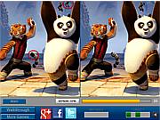 Игра Кунг фу Панда и друзья найти отличия