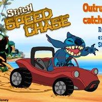 Игра Лило и Стич: гонка на машине